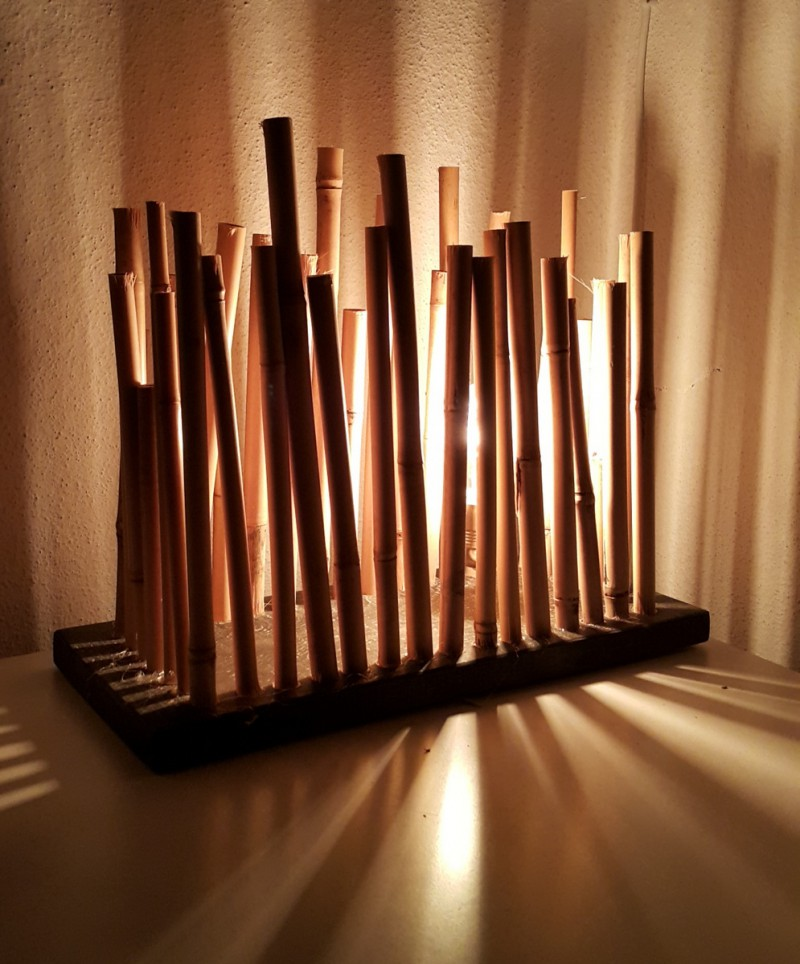 Bamboo table lamp karre design bamboo table lamp aloadofball Images